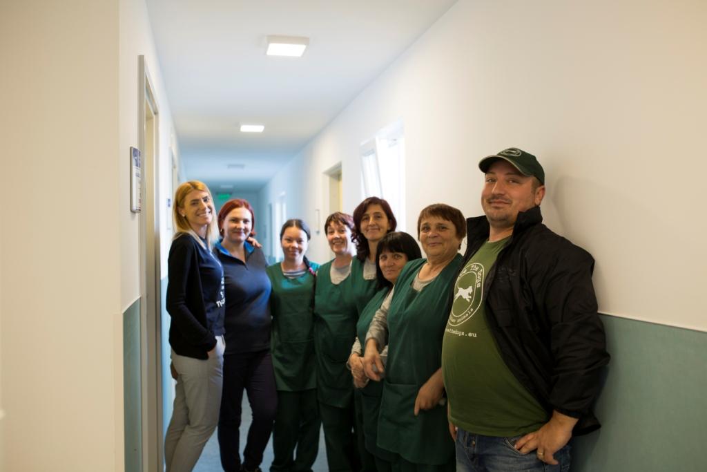 Staff clinica al lavoro