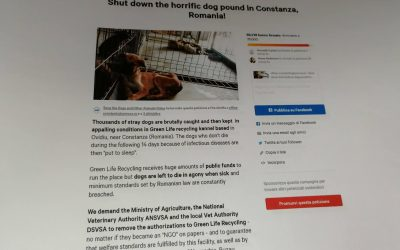The signatures of the petition against the kennel  in Ovidiu have been handled
