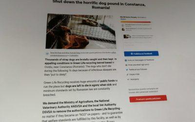 Consegnate le firme della petizione contro il canile di Ovidiu